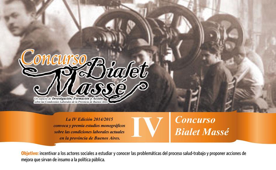 Convocatoria al IV Concurso Bialet Massé organizado por la Pcia. de Buenos Aires