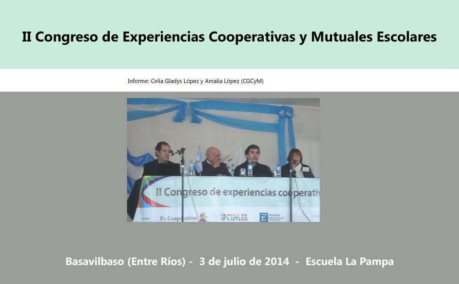 II Congreso de Experiencias Cooperativas y Mutuales Escolares