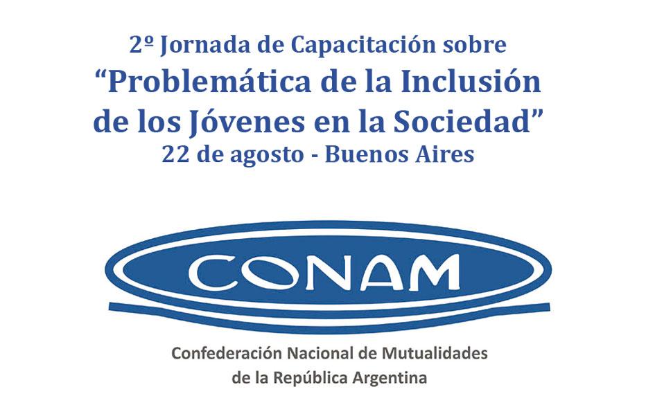 """2ª Jornada """"Problemática de la Inclusión de los Jóvenes en la Sociedad"""" organizada por la CONAM"""
