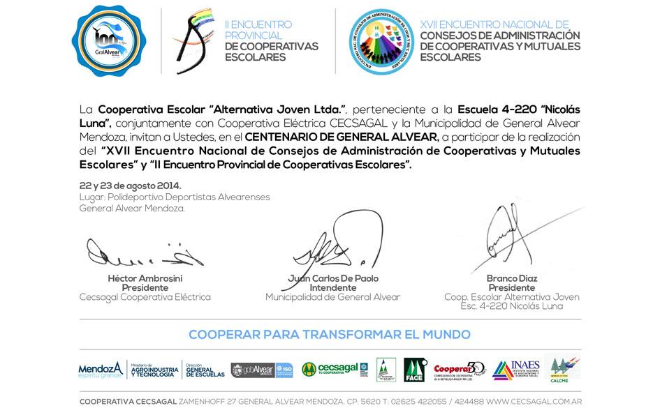 XVII Encuentro Nacional de Consejos de Administración de Cooperativas y Mutuales Escolares