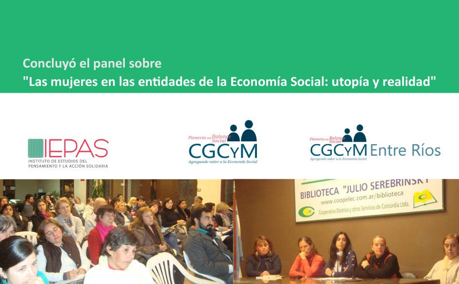 """Se realizó el panel """"Las mujeres en las entidades de la Economía Social: utopía y realidad"""" organizado por el IEPAS (CGCyM)"""