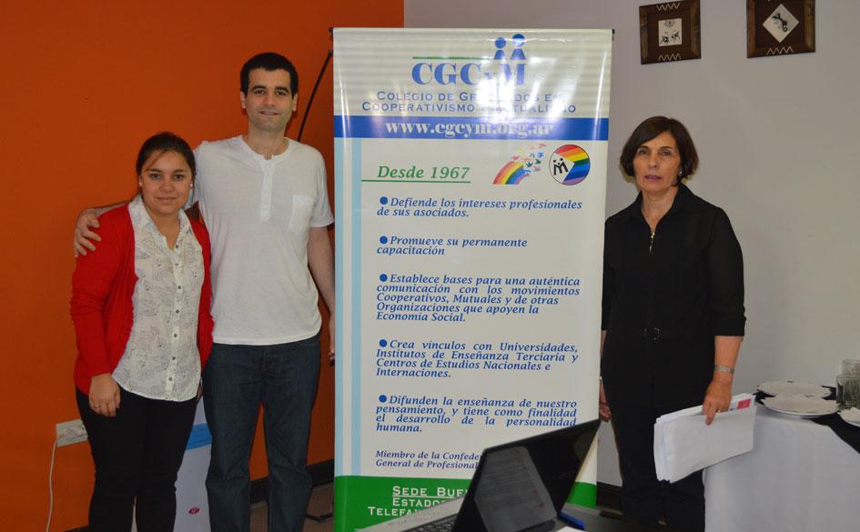 Victoria Márquez, Juan Ignacio Fariña y Dora Caeiro (capacitadores del CGCyM).