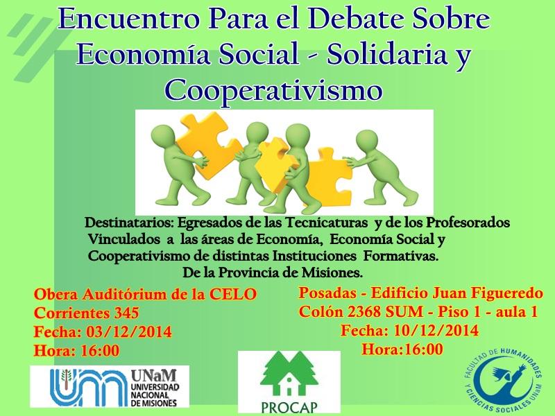 Encuentro para el debate sobre Economía Social, Solidaria y Cooperativismo en Oberá y Posadas (Misiones)