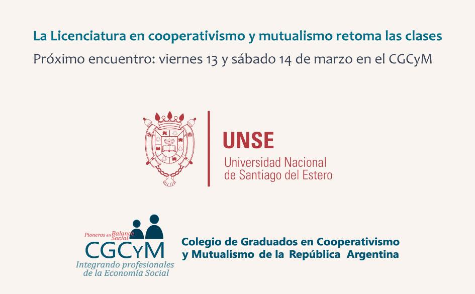El viernes 13 de marzo retomamos las clases de la Licenciatura en Cooperativismo y Mutualismo