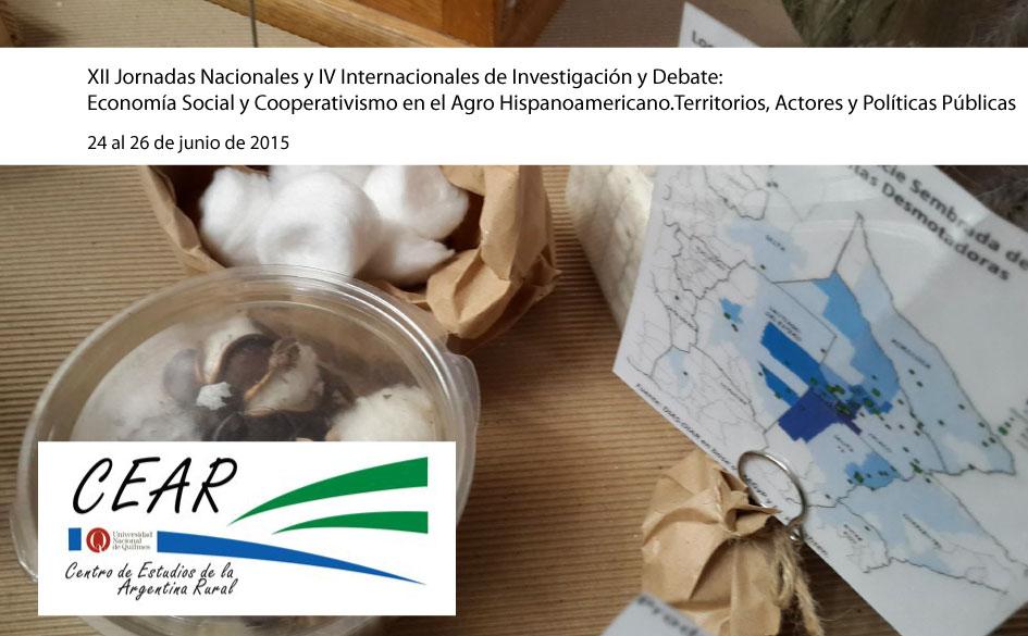 XII Jornadas Nacionales y IV Internacionales de Investigación y Debate:  Economía Social y Cooperativismo en el Agro Hispanoamericano.Territorios, Actores y Políticas Públicas