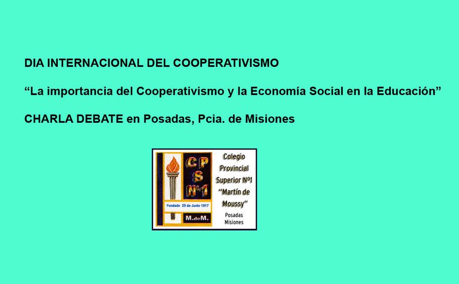 Charla debate organizada por estudiantes en cooperativismo y mutualismo por el Día Internacional del Cooperativismo