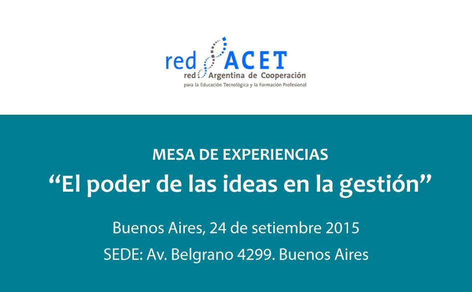 """El CGCyM participará de la Mesa de Experiencias: """"El poder de las ideas en la gestión"""" organizada por la Red Argentina de Cooperación"""