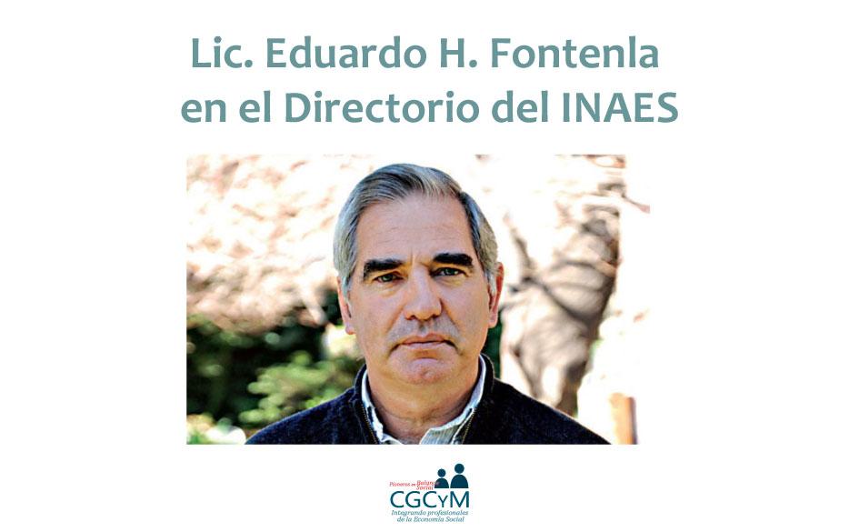 El Lic. Eduardo Fontenla fue designado en el Directorio del INAES