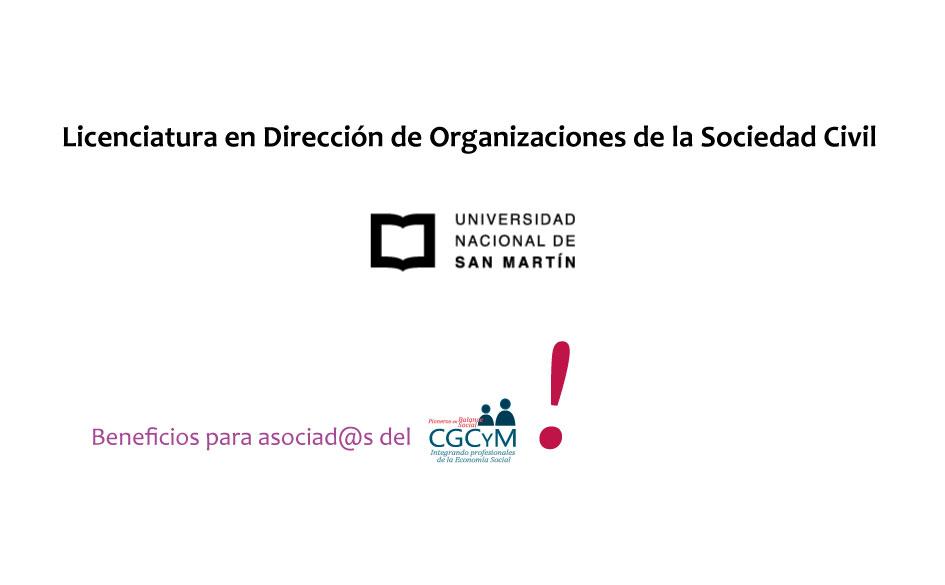 Licenciatura en Dirección de Organizaciones de la Sociedad Civil a distancia. Becas para asociad@s del CGCyM