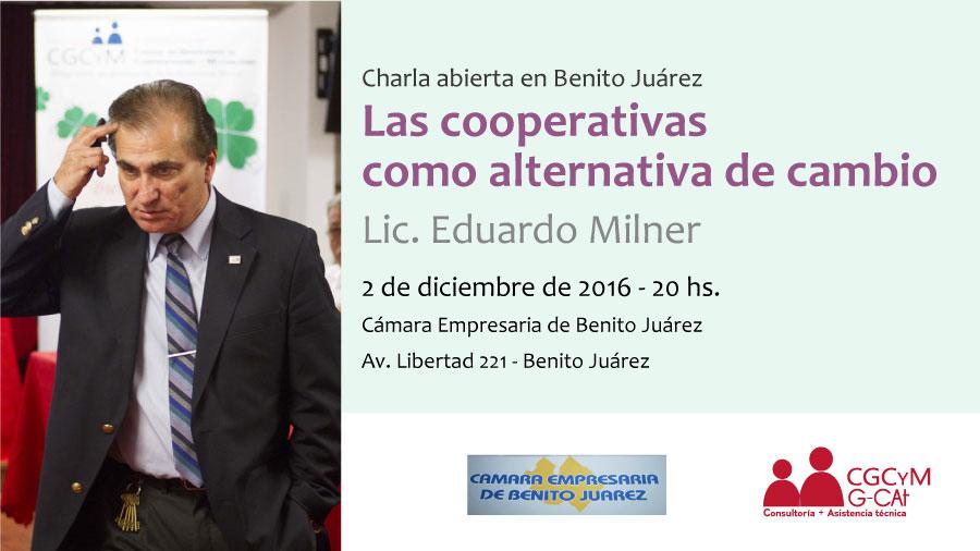 """Charla abierta en Benito Juárez: """"Las cooperativas como alternativa de cambio"""""""
