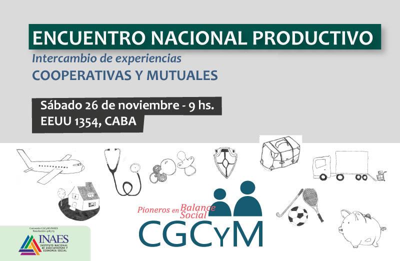 Encuentro Nacional Productivo: intercambio de experiencias innovadoras en cooperativas y mutuales