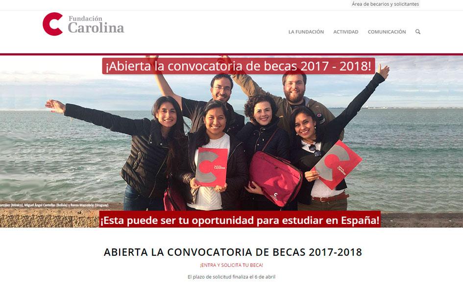 Convocatoria de becas 2017-2018 de la Fundación Carolina para latinoamericanos que quieren estudiar en España