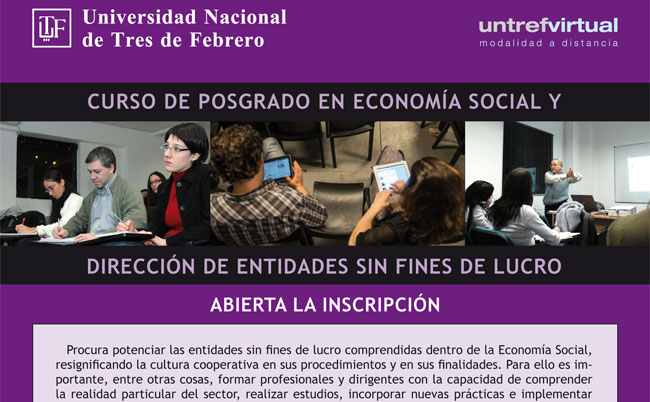 Curso de Posgrado en Economía Social y Dirección de Entidades sin fines de lucro. Presencial y A distancia