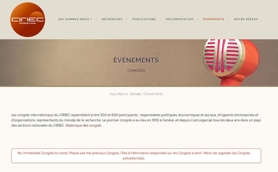 6º Congreso Mundial de Investigadores en Economía Social del CIRIEC. 29 de noviembre al 2 de diciembre en Manaos (Brasil)
