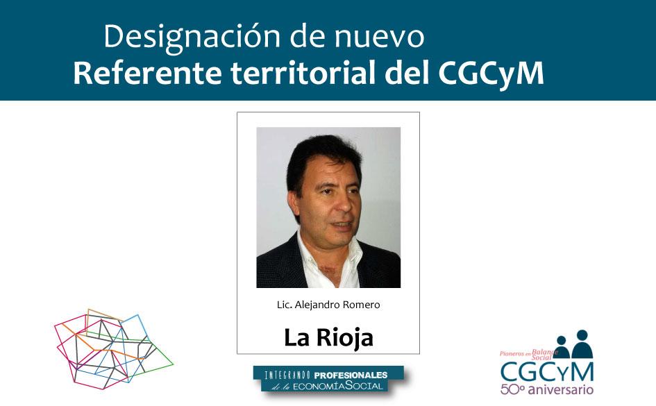 El CGCyM designó al Lic. Alejandro Romero Referente Territorial en la Provincia de La Rioja