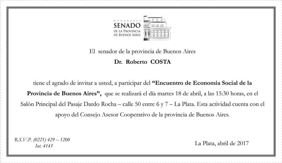 La Plata: Encuentro Provincial de Economía Social. 18 de abril, 16:30 horas