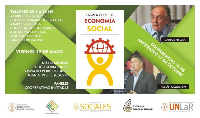 Primer Foro de Economía Social en la Universidad Nacional de La Rioja. Viernes 19 de mayo, 9 hs.