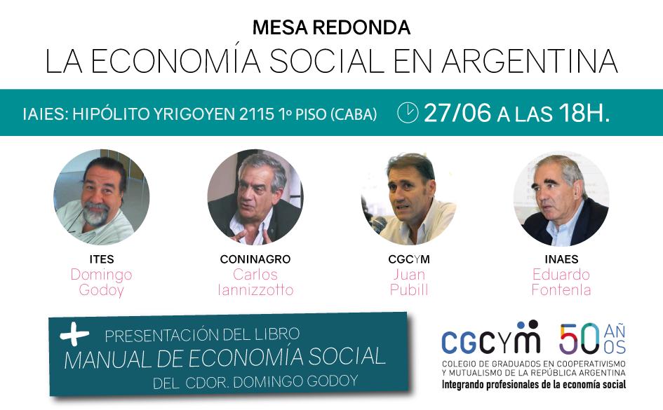 """Mesa Redonda sobre Economía Social + Presentación del libro """"Manual de Economía Social"""" de Domingo Godoy"""