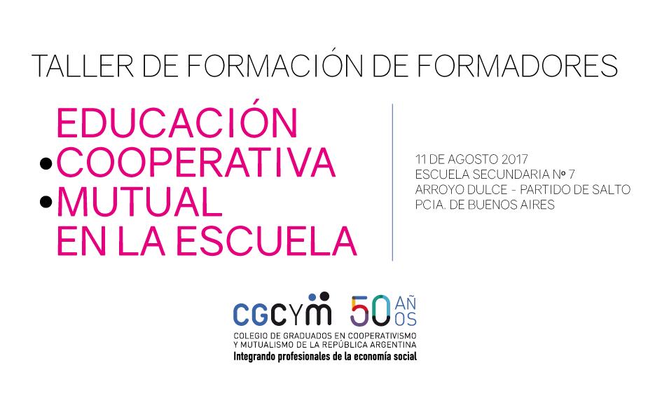 Taller de Formación de Formadores de Cooperativismo y Mutualismo en el ámbito educativo – Arroyo Dulce