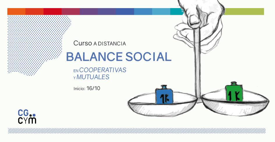 """Curso a distancia sobre """"Balance Social en Cooperativas y Mutuales"""". Inicia el 16 de octubre"""