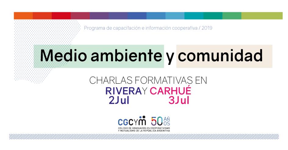 Medio ambiente y Comunidad: charlas de capacitación en Rivera y Carhué