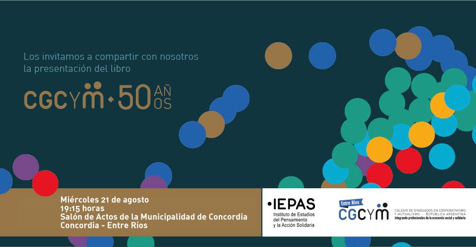 Presentación de la obra institucional del CGCyM en Concordia, Entre Ríos