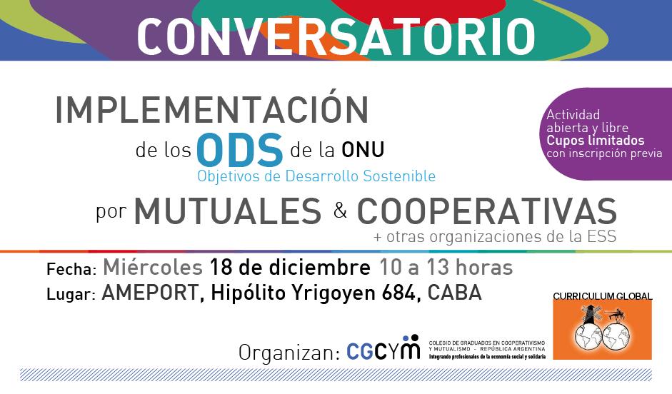 Conversatorio: Implementación de los ODS por Cooperativas y Mutuales