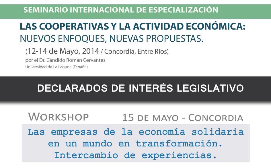 Declaran de interés legislativo el Seminario + Workshop organizados por el IEPAS (CGCyM)