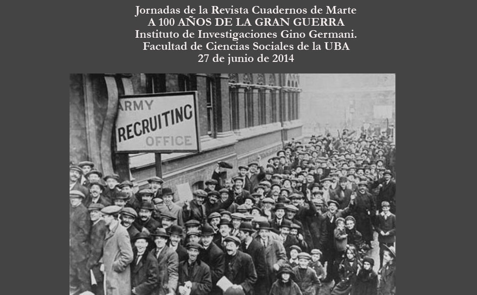 Jornadas de la Revista Cuadernos de Marte: «A 100 Años de la Gran Guerra»