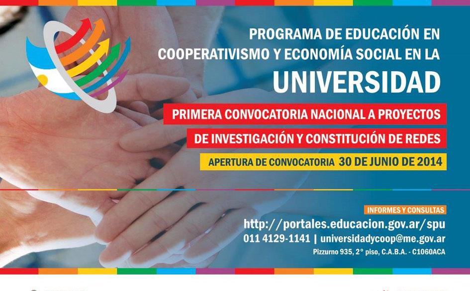 Prórroga del Programa de Educación en Cooperativismo y Economía Social en la Universidad