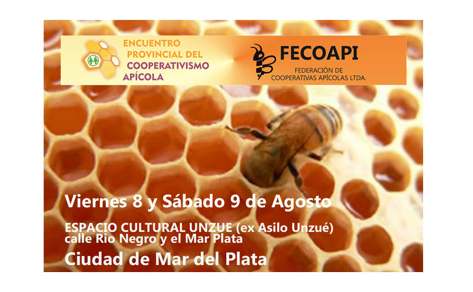 La FECOAPI organiza el Primer Encuentro Provincial del Cooperativismo Apícola