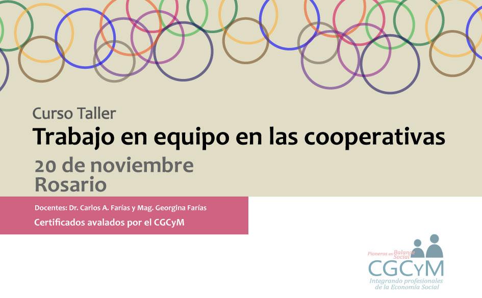 Curso Taller: «Trabajo en equipo en las cooperativas». El 20 de noviembre en Rosario.