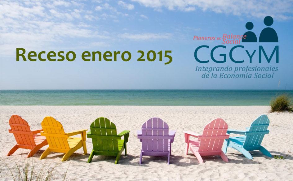 Receso del CGCyM durante enero 2015. Comunicaciones disponibles vía e-mail.