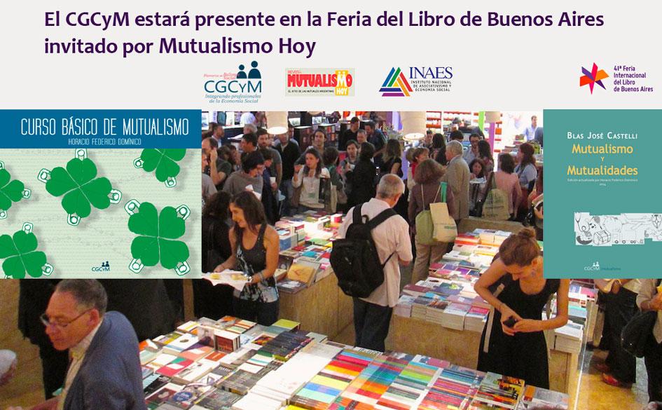 El CGCyM expondrá parte de su fondo editorial en la Feria del Libro de Buenos Aires invitado por Mutualismo Hoy