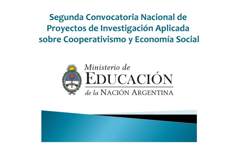 Segunda Convocatoria Nacional de Proyectos de Investigación Aplicada sobre Cooperativismo y Economía Social