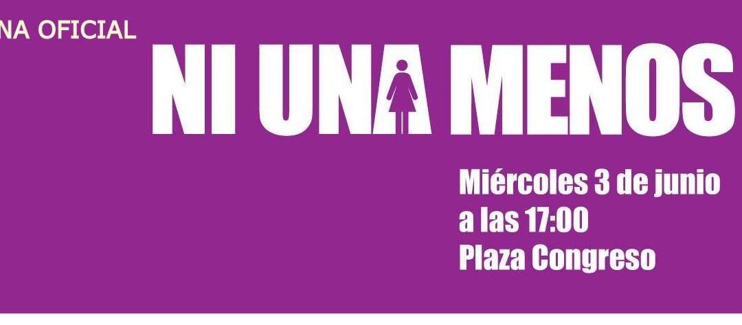 #NI UNA MENOS, marcha el 3 de junio en Plaza Congreso. Escribe el Lic. Jorge Nuñez