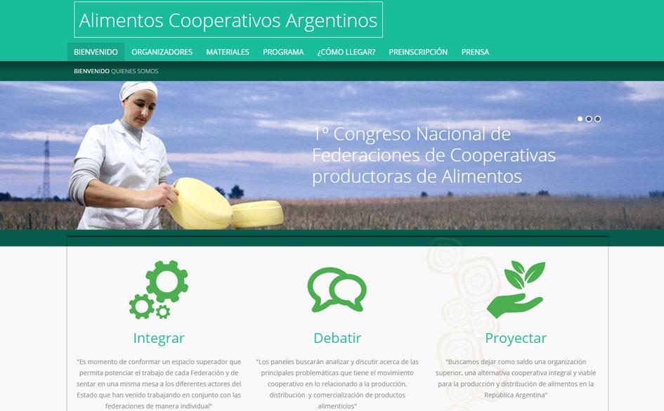 Invitación al 1º Congreso Nacional de Federaciones de Cooperativas Productoras de Alimentos