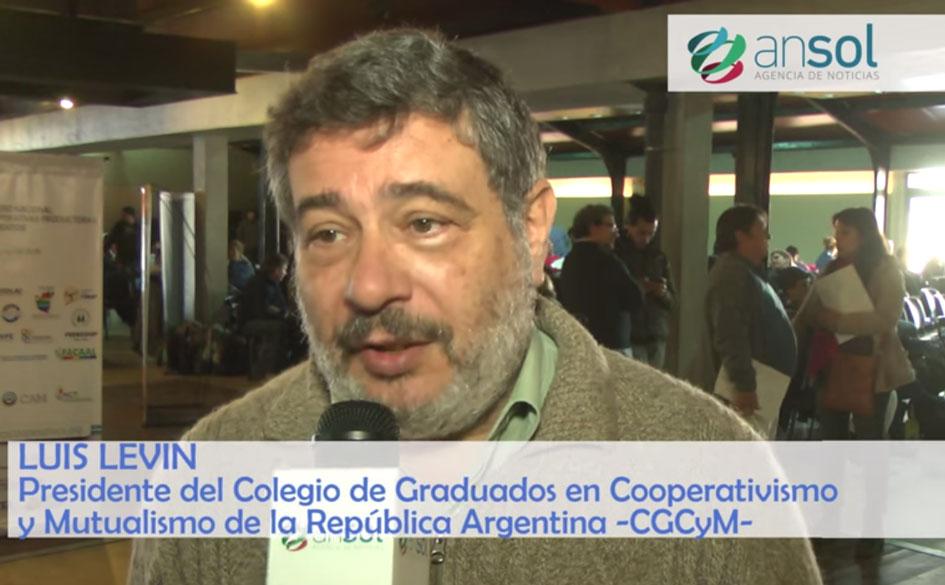 Entrevista al Lic. Luis Levín en el marco del 1er. Congreso Nacional de Cooperativas Productoras de Alimentos