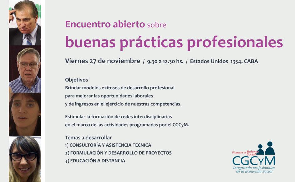 Encuentro abierto sobre buenas prácticas profesionales en el CGCyM