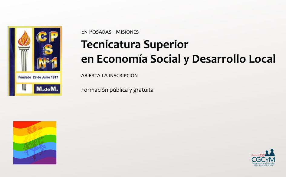 Tecnicatura Superior en Economía Social y Desarrollo Local en Misiones: abierta la inscripción. Formación pública y gratuita
