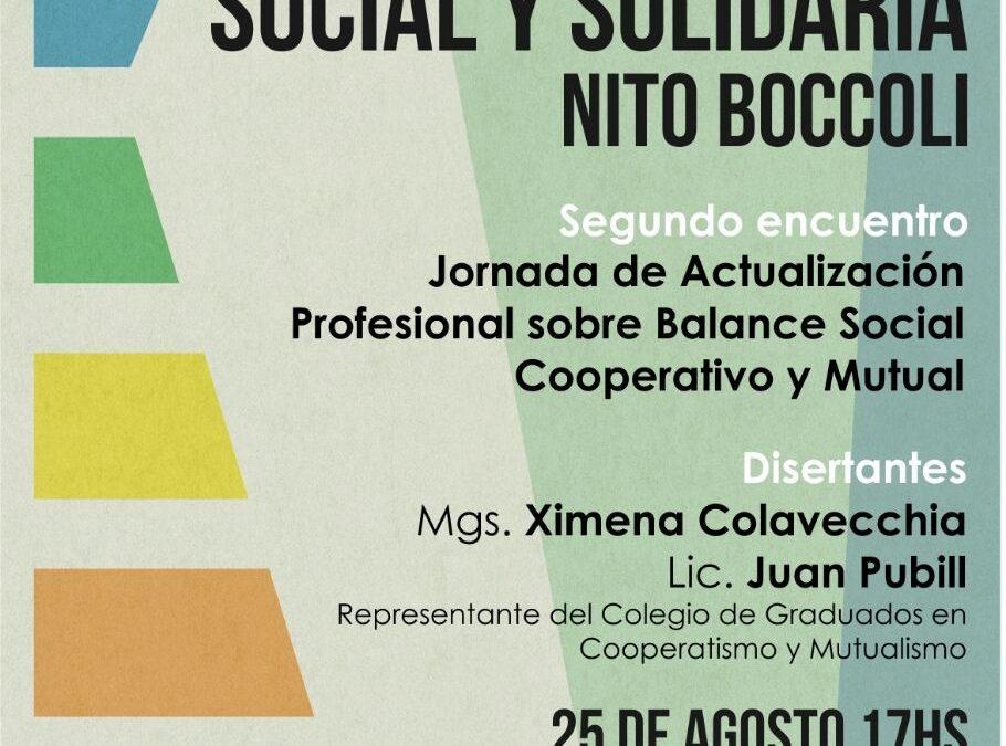 Jornada de Actualización Profesional sobre Balance Social Cooperativo y Mutual. 25 de agosto en Rosario