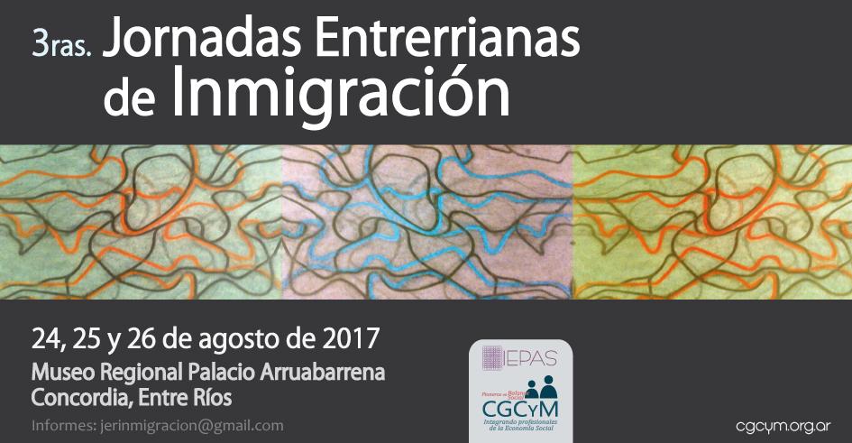 Lanzamiento oficial de las 3ras. Jornadas Entrerrianas de Inmigración (IEPAS – CGCyM)