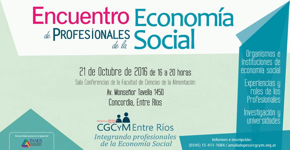 Encuentro de Profesionales de la Economía Social en Concordia, Entre Ríos
