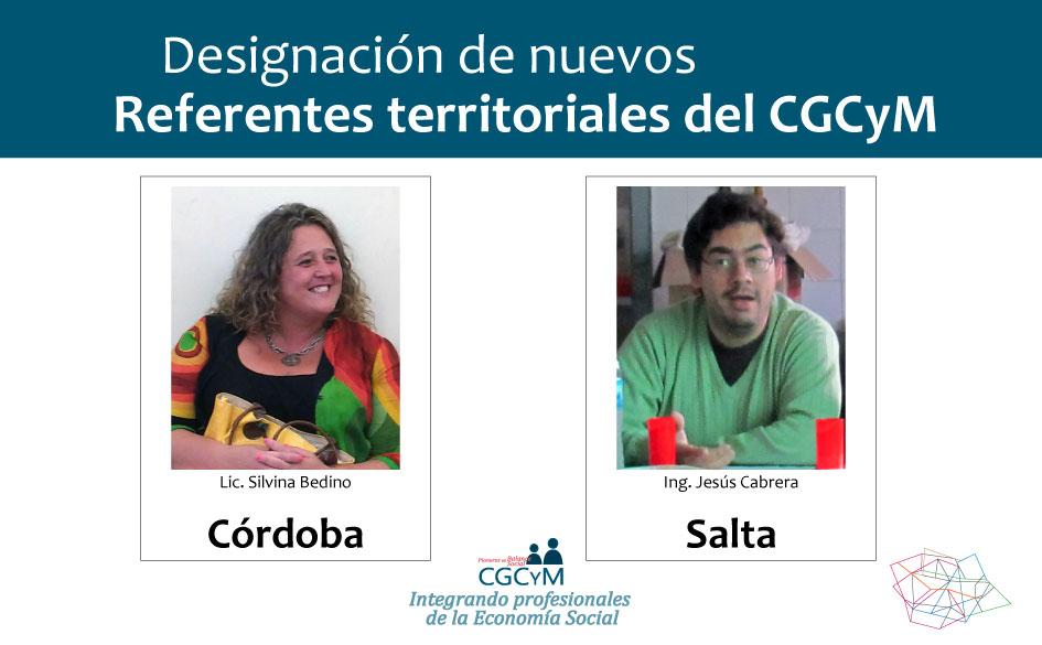 El CGCyM designó referentes territoriales en las provincias de Salta y Córdoba