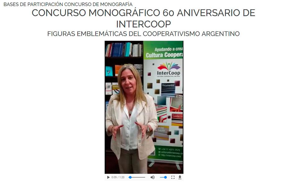 Concurso de monografías sobre figuras del cooperativismo argentino organizado por INTERCOOP