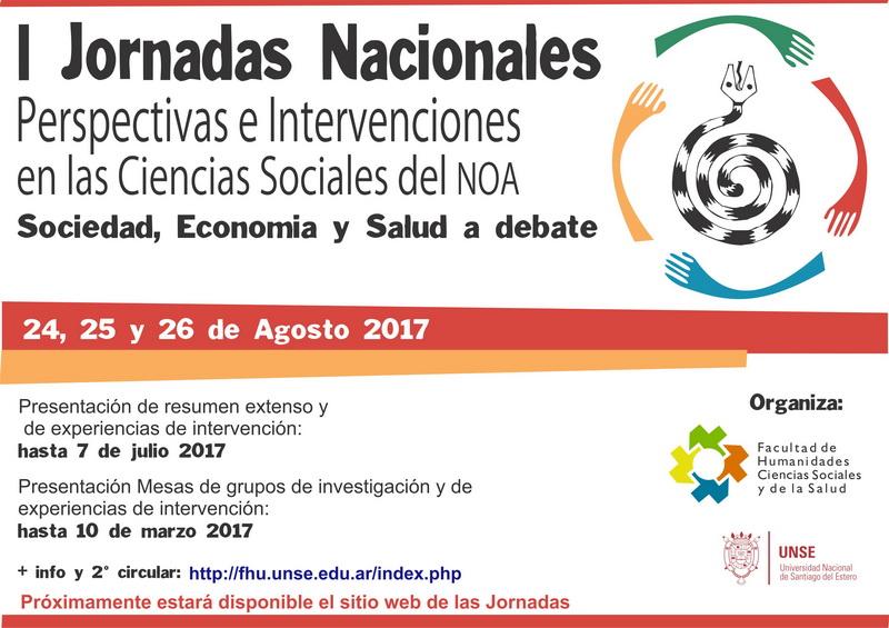 I Jornadas Nacionales: «Perspectivas e intervenciones en las Ciencias Sociales del NOA» – Santiago del Estero