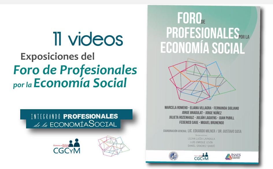 Exposiciones del Foro de Profesionales por la Economía Social organizado por la AABA y el CGCyM