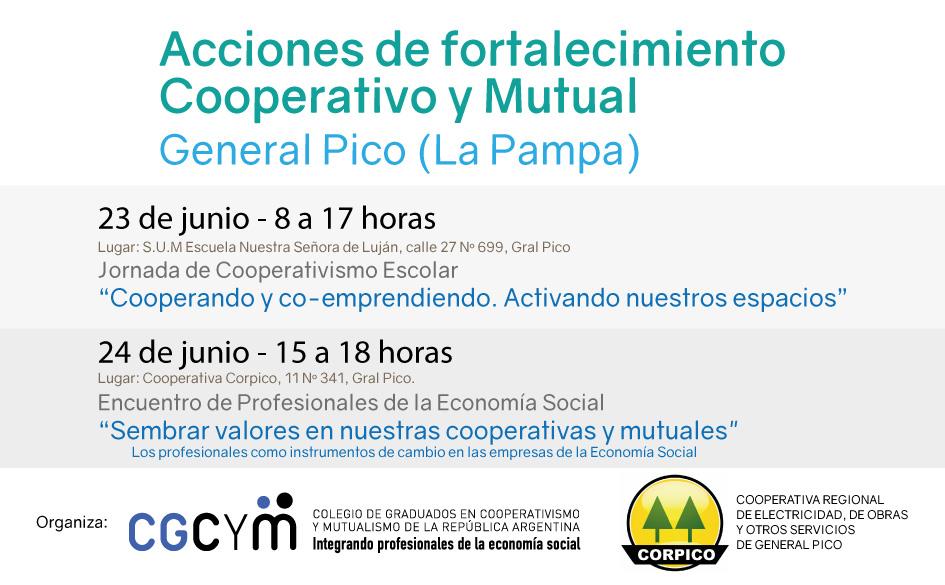 Acciones de fortalecimiento cooperativo y mutual en General Pico (La Pampa)