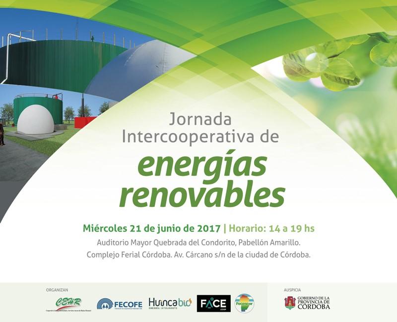 Jornada Intercooperativa de Energías Renovables. Miércoles 21 de junio en Córdoba