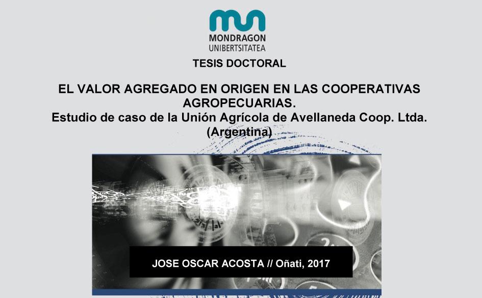 El valor agregado en origen en las cooperativas agropecuarias. Estudio de caso de la Unión Agrícola de Avellaneda Coop. Ltda.